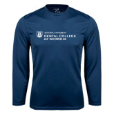 Performance Navy Longsleeve Shirt-Dental College of Georgia