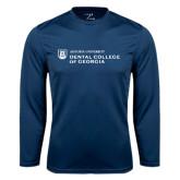 Syntrel Performance Navy Longsleeve Shirt-Dental College of Georgia
