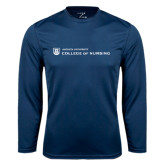 Performance Navy Longsleeve Shirt-College of Nursing