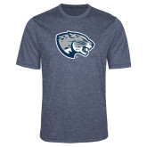 Performance Navy Heather Contender Tee-Jaguar Head