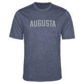 Performance Navy Heather Contender Tee-Augusta