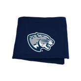Navy Sweatshirt Blanket-Jaguar Head