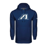 Under Armour Navy Performance Sweats Team Hoodie-Victory A