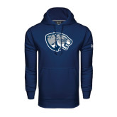 Under Armour Navy Performance Sweats Team Hood-Jaguar Head