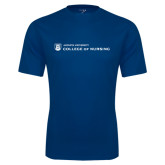 Performance Navy Tee-College of Nursing