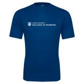 Syntrel Performance Navy Tee-College of Nursing