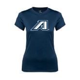 Ladies Syntrel Performance Navy Tee-Victory A