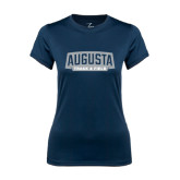 Ladies Syntrel Performance Navy Tee-Track and Field