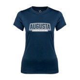 Ladies Syntrel Performance Navy Tee-Cheerleading