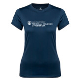 Ladies Syntrel Performance Navy Tee-Medical College of Georgia