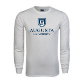 White Long Sleeve T Shirt-University Mark