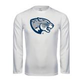 Syntrel Performance White Longsleeve Shirt-Jaguar Head
