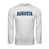 Performance White Longsleeve Shirt-Augusta