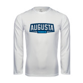 Performance White Longsleeve Shirt-Tennis