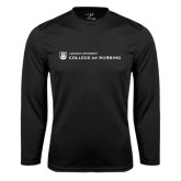 Performance Black Longsleeve Shirt-College of Nursing