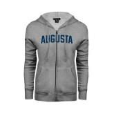 ENZA Ladies Grey Fleece Full Zip Hoodie-Augusta