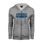 ENZA Ladies Grey Fleece Full Zip Hoodie-Track and Field
