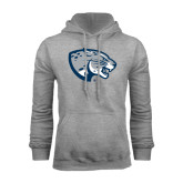 Grey Fleece Hoodie-Jaguar Head