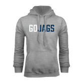 Grey Fleece Hood-Go Jags