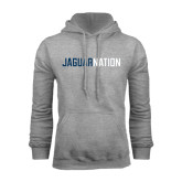 Grey Fleece Hoodie-Jaguar Nation