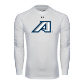 Under Armour White Long Sleeve Tech Tee-Victory A