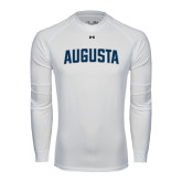 Under Armour White Long Sleeve Tech Tee-Augusta