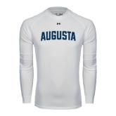 Under Armour White Long Sleeve Tech Tee-Augusta