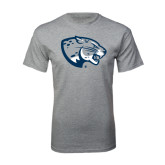Grey T Shirt-Jaguar Head