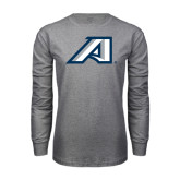 Grey Long Sleeve T Shirt-Victory A