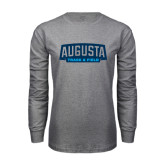 Grey Long Sleeve T Shirt-Track and Field