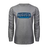 Grey Long Sleeve T Shirt-Cheerleading