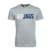 Next Level SoftStyle Heather Grey T Shirt-Go Jags