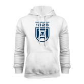 White Fleece Hood-University Mark 1828