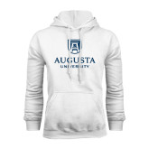 White Fleece Hood-University Mark