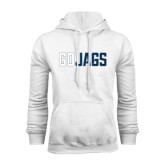 White Fleece Hood-Go Jags