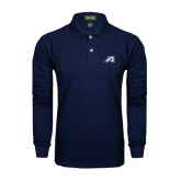 Navy Long Sleeve Polo-Victory A