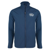 Navy Softshell Jacket-Jaguar Head