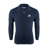 Navy Slub Fleece 1/4 Zip Pullover-Victory A