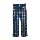 Navy/White Flannel Pajama Pant-Victory A