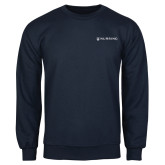 Navy Fleece Crew-Nursing