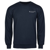 Navy Fleece Crew-Dental College of Georgia