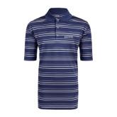 Adidas Climalite Navy Textured Stripe Polo-Augusta