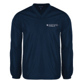 V Neck Navy Raglan Windshirt-Medical College of Georgia