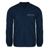 V Neck Navy Raglan Windshirt-College of Nursing