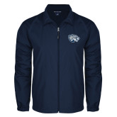 Full Zip Navy Wind Jacket-Jaguar Head
