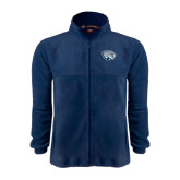 Fleece Full Zip Navy Jacket-Jaguar Head
