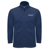 Fleece Full Zip Navy Jacket-Dental College of Georgia