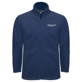 Fleece Full Zip Navy Jacket-Medical College of Georgia