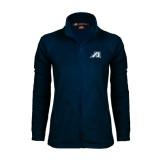 Ladies Fleece Full Zip Navy Jacket-Victory A