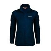 Ladies Fleece Full Zip Navy Jacket-Augusta